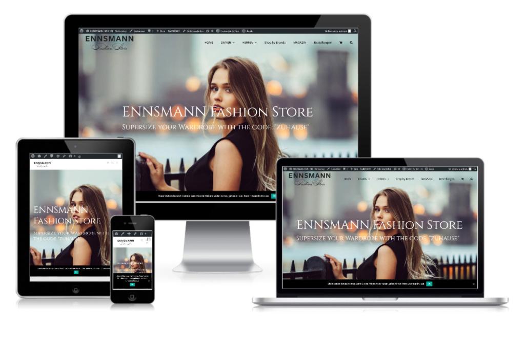 Projekt Ennsmann Fashion Store Salzburg Pixelstudio Webdesign Hallein