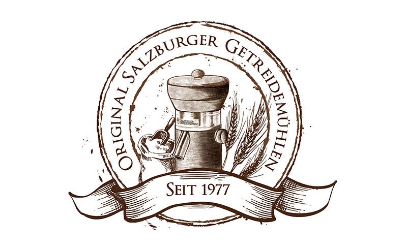 Logo Erstellung Salzburger Getreidemühlen Pixelstudio Hallein